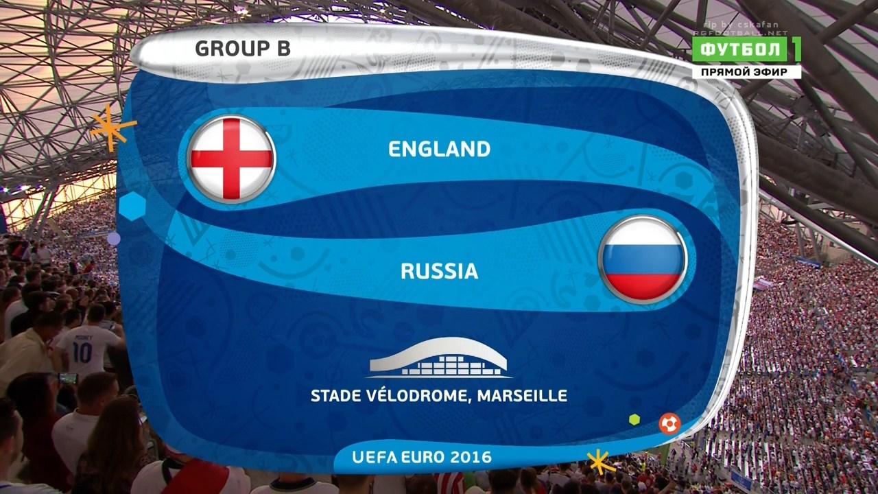 Чемпионат Европы 2016. Группа B. 1-й тур. Англия – Россия | HDTVRip 720 | 50 fps
