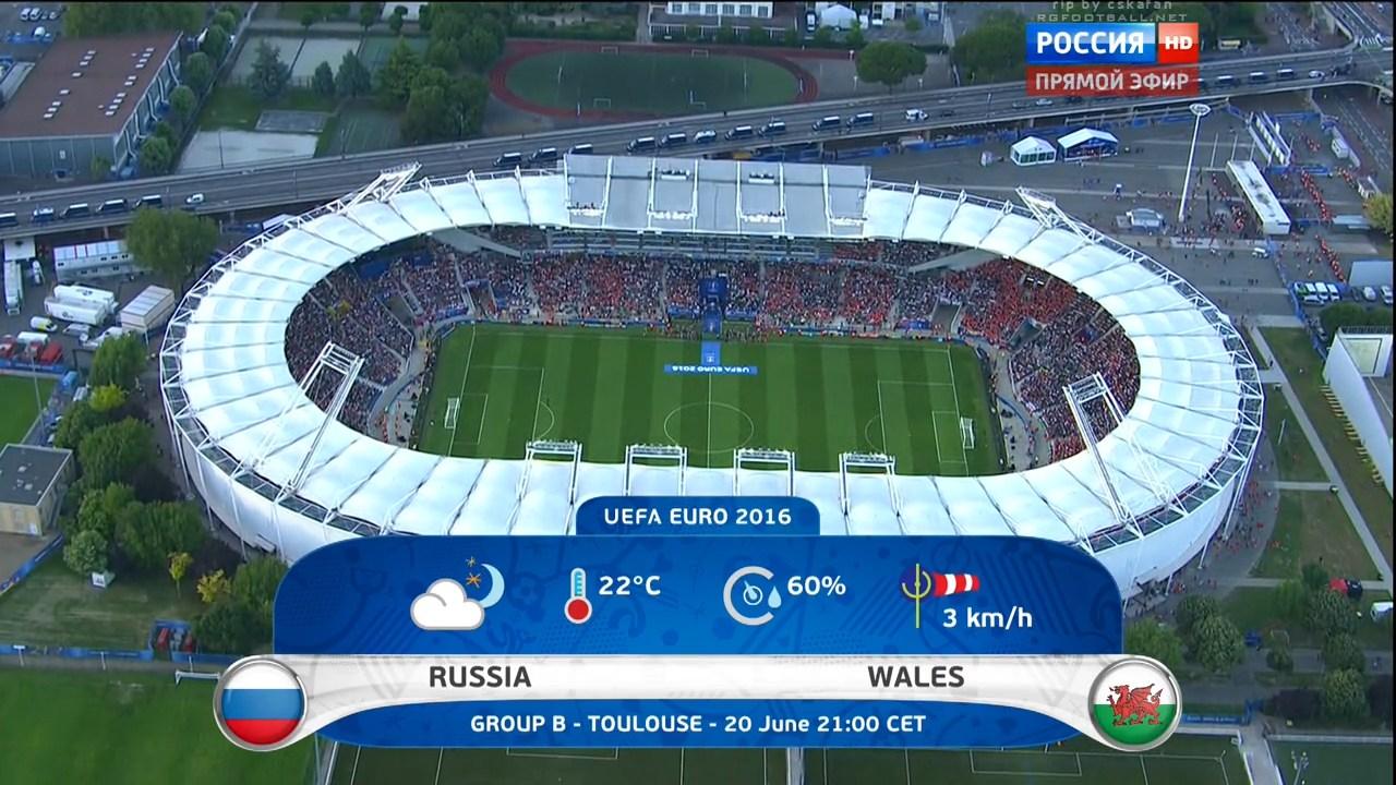 Чемпионат Европы 2016. Группа B. 3-й тур. Россия – Уэльс | HDTVRip 720 | 50 fps