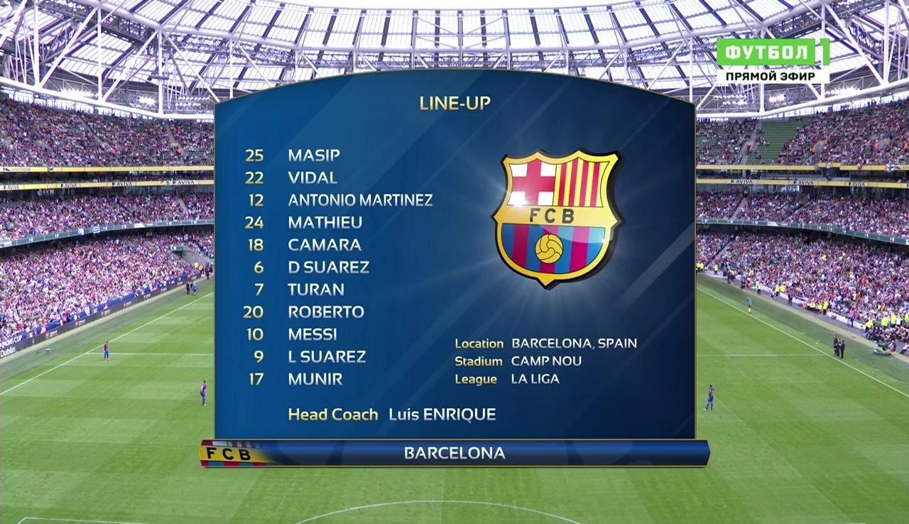 Футбол. Международный кубок чемпионов. Барселона - Селтик (2016) HDTVRip 720p