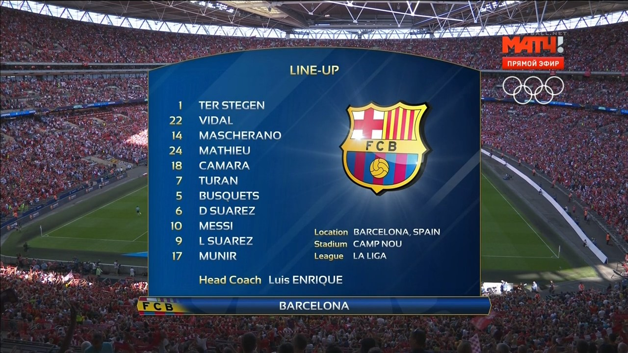 Футбол. Международный кубок чемпионов. Ливерпуль - Барселона (2016) HDTVRip 720p