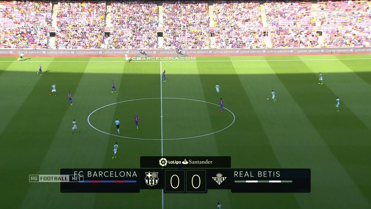 Футбол. Чемпионат Испании 2016-17 (1-й тур) Барселона - Бетис (2016) HDTVRip 720p