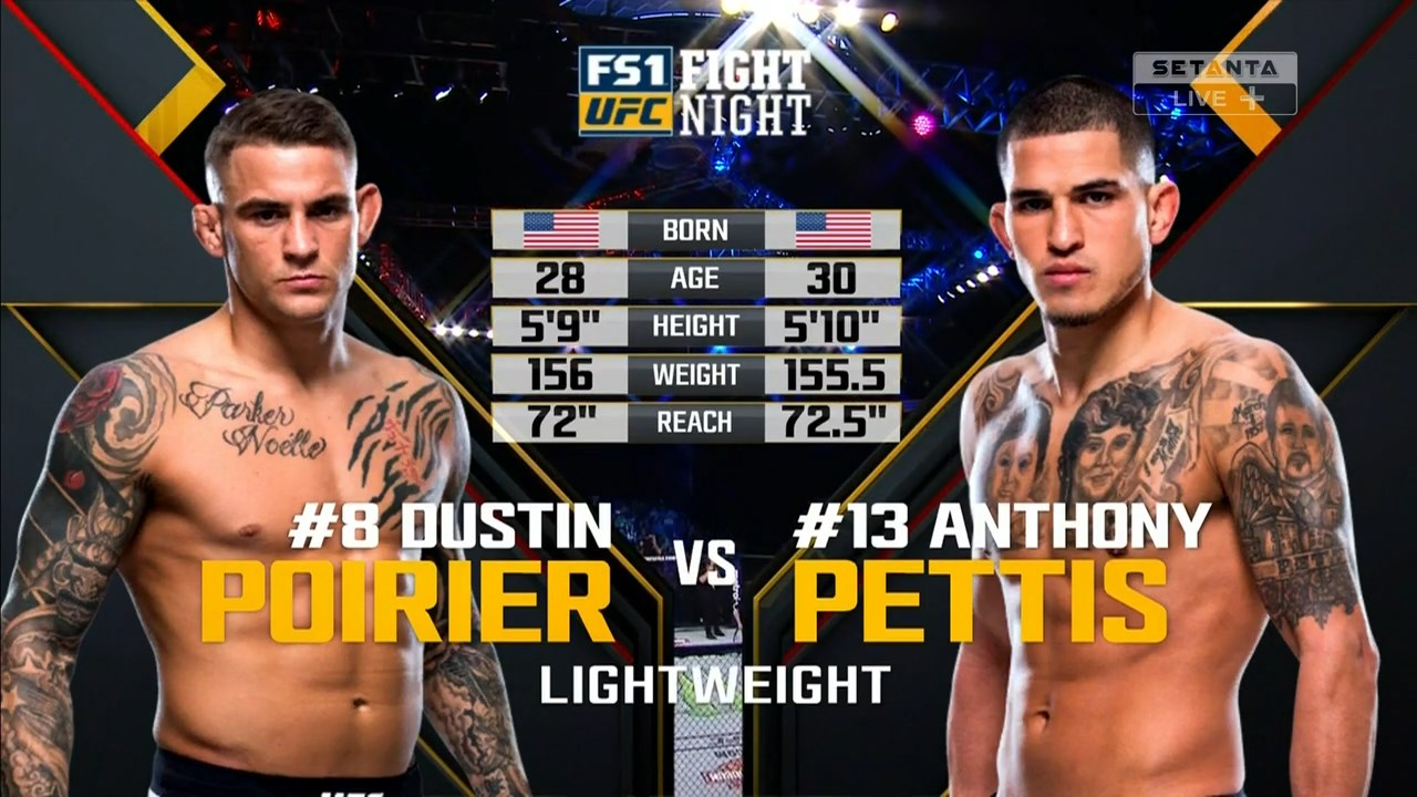 Смешанные единоборства. UFC Fight Night 120: Poirier vs. Pettis + Main Card (2017) HDTVRip 720p