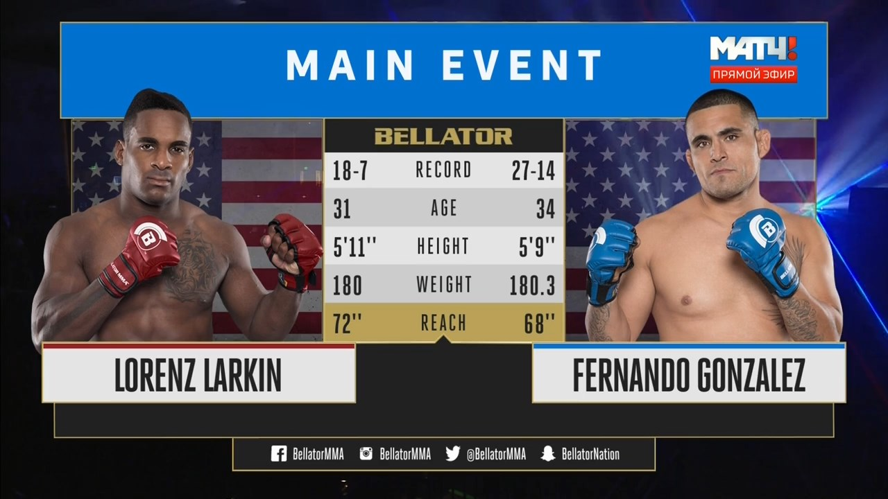Смешанные единоборства. Bellator 193: Larkin vs. Gonzalez + Main Card (2018) HDTVRip 720p