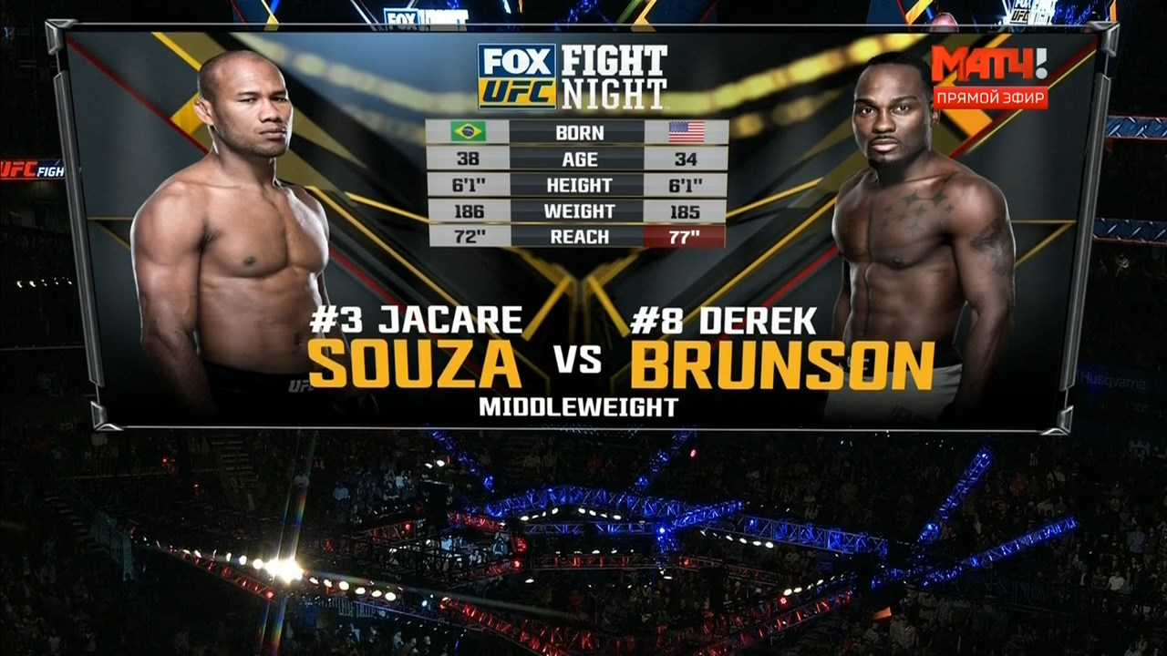 Смешанные единоборства. UFC on Fox 27: Jacare vs. Brunson 2 + Main Card (2018) HDTVRip 720p