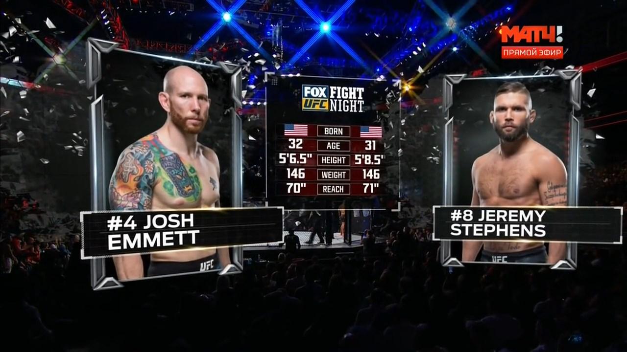 Смешанные единоборства. UFC on Fox 28: Emmett vs. Stephens + Main Card (2018) HDTVRip 720p
