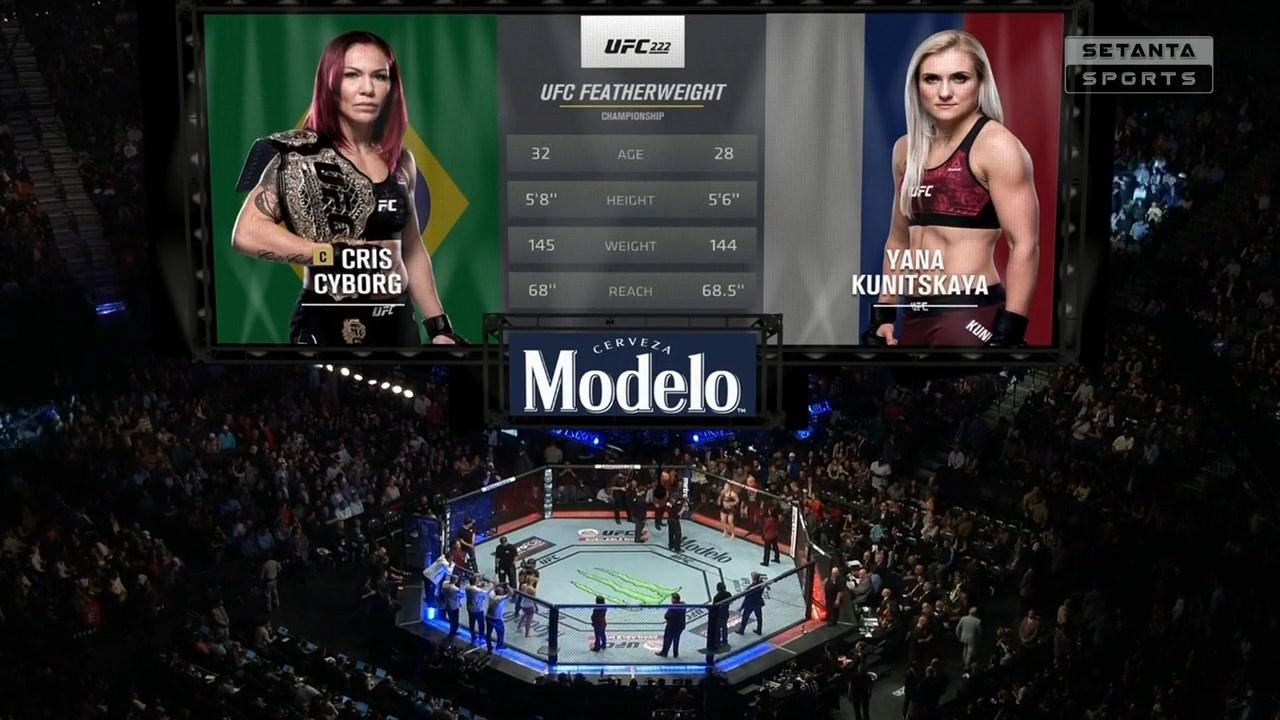 Смешанные единоборства. UFC 222: Cyborg vs. Kunitskaya + Main Card (2018) HDTVRip 720p