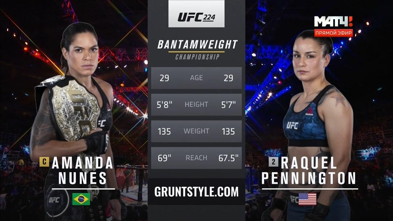 Смешанные единоборства. UFC 224: Nunes vs. Pennington + Main Card (2018) HDTVRip 720p