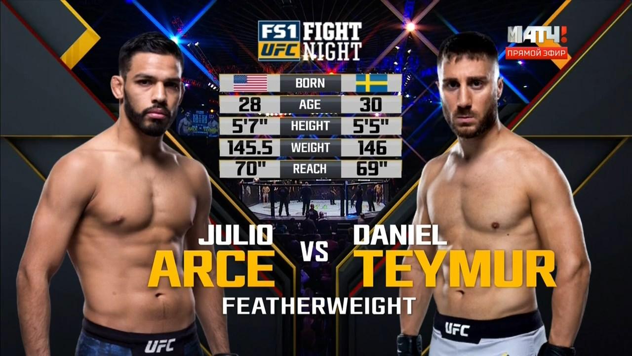 Смешанные единоборства. UFC Fight Night 131: Rivera vs. Moraes + Main Card (2018) HDTVRip 720p